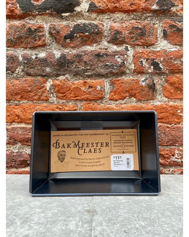 Bakmeester Claes Bakmeester Claes Bakvorm Blauwstaal 17 x 11 cm