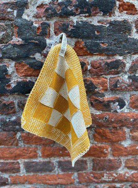 Knit Factory Pannenlap Block 'Ecru/Oker'