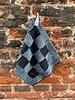 Knit Factory Knit Factory Pannenlap Block 'Zwart/Graniet'