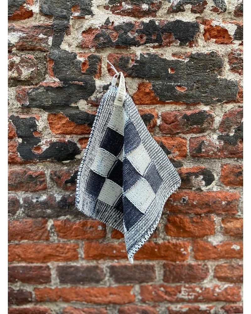 Knit Factory Knit Factory Pannenlap Block 'Ecru/Antraciet'