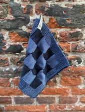 Knit Factory Pannenlap Block 'Zwart/Jeans'