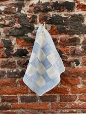 Knit Factory Pannenlap Block 'Ecru/Licht Grijs'