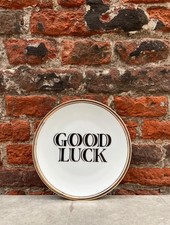 Bitossi Funky Table Plate 'Good Luck'