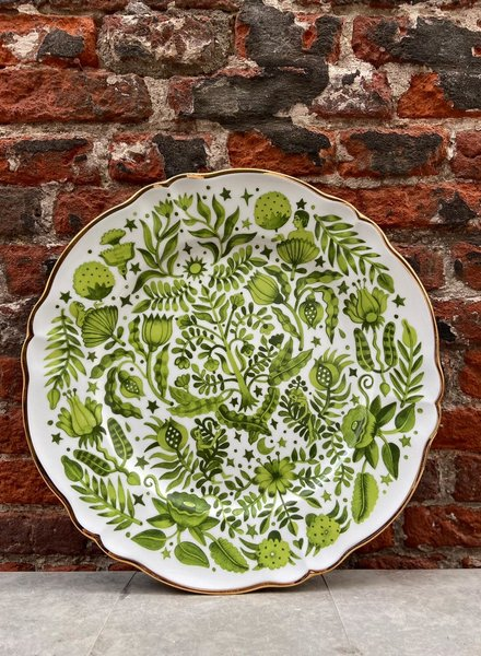 Bitossi Funky Table Round Platter 'Green All Over'