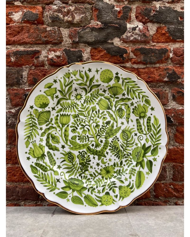 Bitossi Bitossi Funky Table Round Platter 'Green All Over'