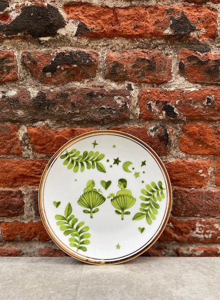 Bitossi Funky Table Plate 'Man & Woman'