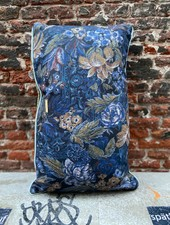 HK living Doris Printed Cushion 'Blue'