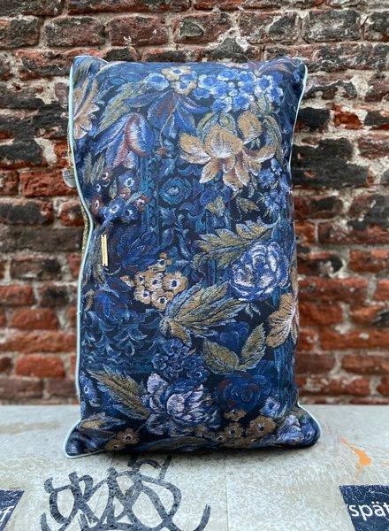 HK living Doris Printed Cushion 'Blue'