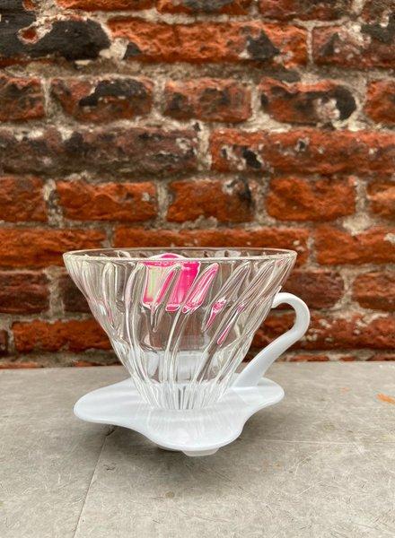 Hario V60 Glass Coffee Dripper 'White'