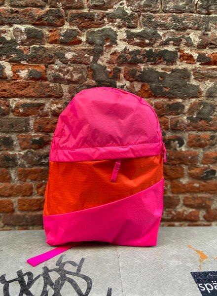 Susan Bijl Foldable Backpack M 'Pretty Pink & Red Alert'