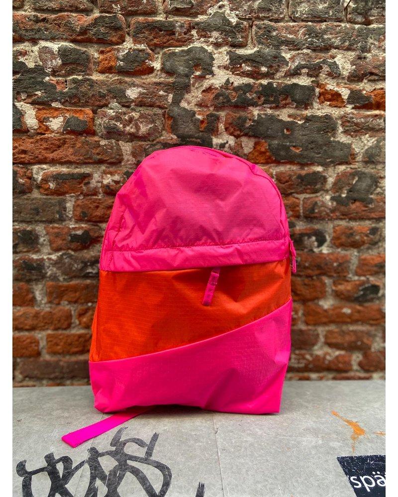 Susan Bijl Susan Bijl Foldable Backpack M 'Pretty Pink & Red Alert'