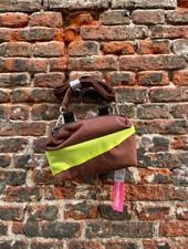 Susan Bijl Bum Bag S 'Brown & Fluo Yellow'