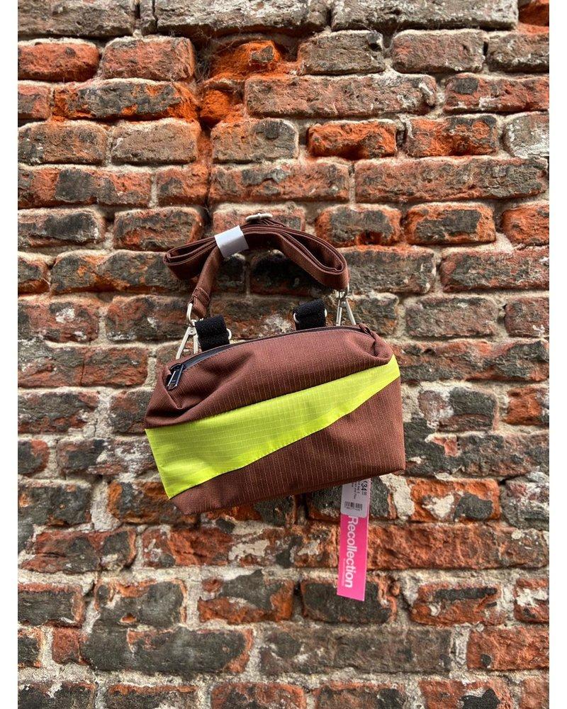 Susan Bijl Susan Bijl Bum Bag S 'Brown & Fluo Yellow'