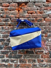 Susan Bijl Bum Bag M 'Electric Blue & Cees'
