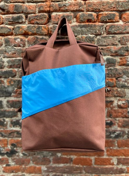 Susan Bijl Backpack 'Brown & Sky Blue'