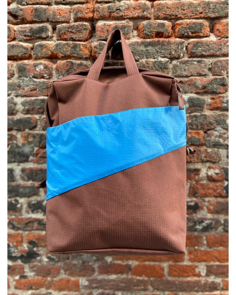 Susan Bijl Susan Bijl Backpack 'Brown & Sky Blue'