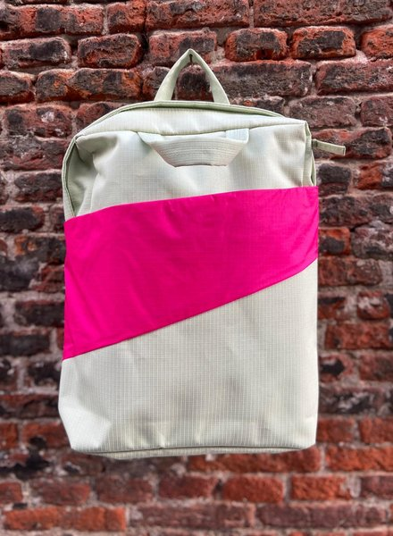 Susan Bijl Backpack 'Pistachio & Pretty Pink'
