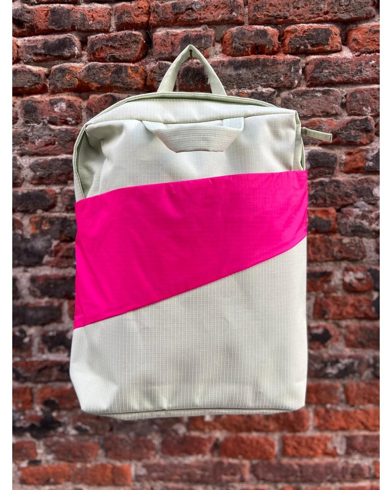 Susan Bijl Susan Bijl Backpack 'Pistachio & Pretty Pink'