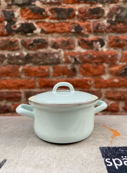 Riess Pan with Chrome Edge 14 cm/0,75 l 'Turquoise'