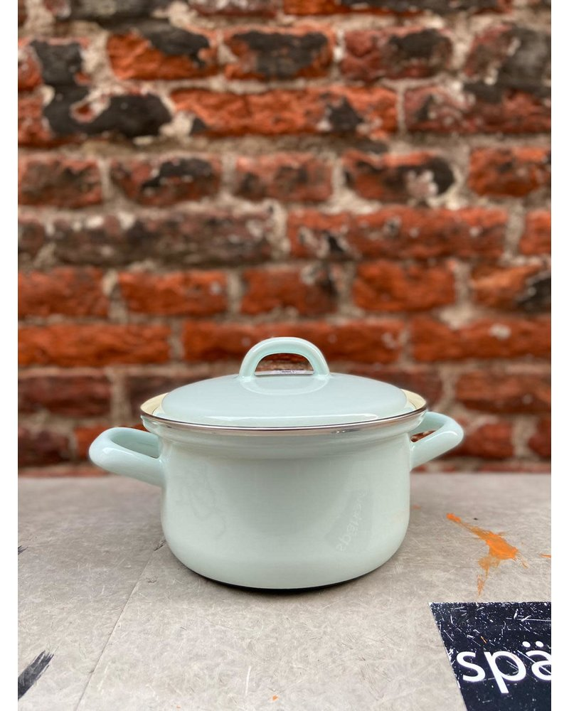 Riess Riess Pan with Chrome Edge 14 cm/0,75 l 'Turquoise'