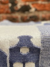 Knit Factory Keukendoek House 'Ecru/Jeans'