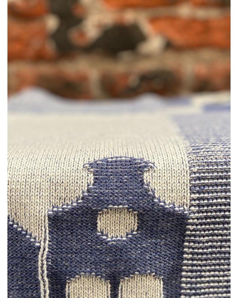 Knit Factory Knit Factory Keukendoek House 'Ecru/Jeans'