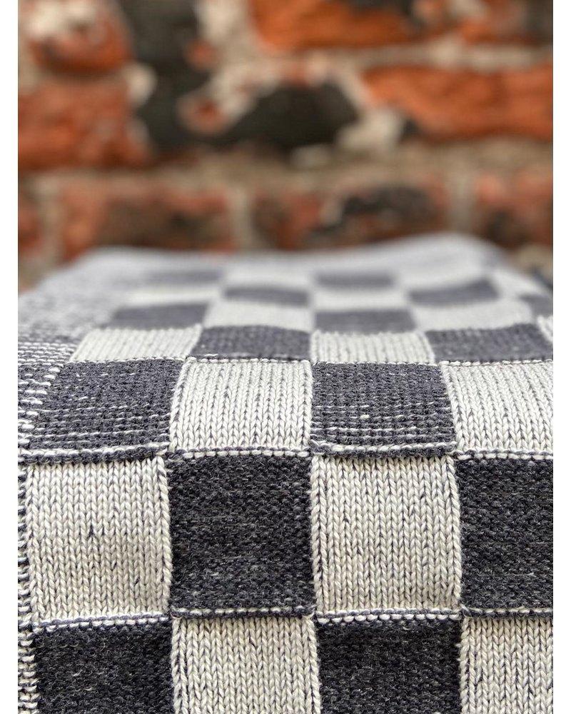 Knit Factory Knit Factory Keukendoek Block 'Ecru/Antraciet'