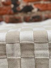 Knit Factory Keukendoek Block 'Ecru/Linnen'