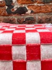 Knit Factory Keukendoek Block 'Ecru/Rood'
