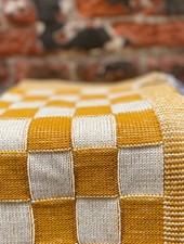 Knit Factory Keukendoek Block 'Ecru/Oker'