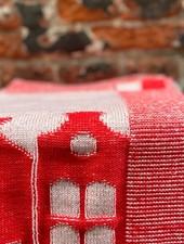 Knit Factory Keukendoek House 'Ecru/Rood'