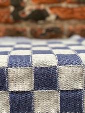 Knit Factory Keukendoek Block 'Ecru/Jeans'