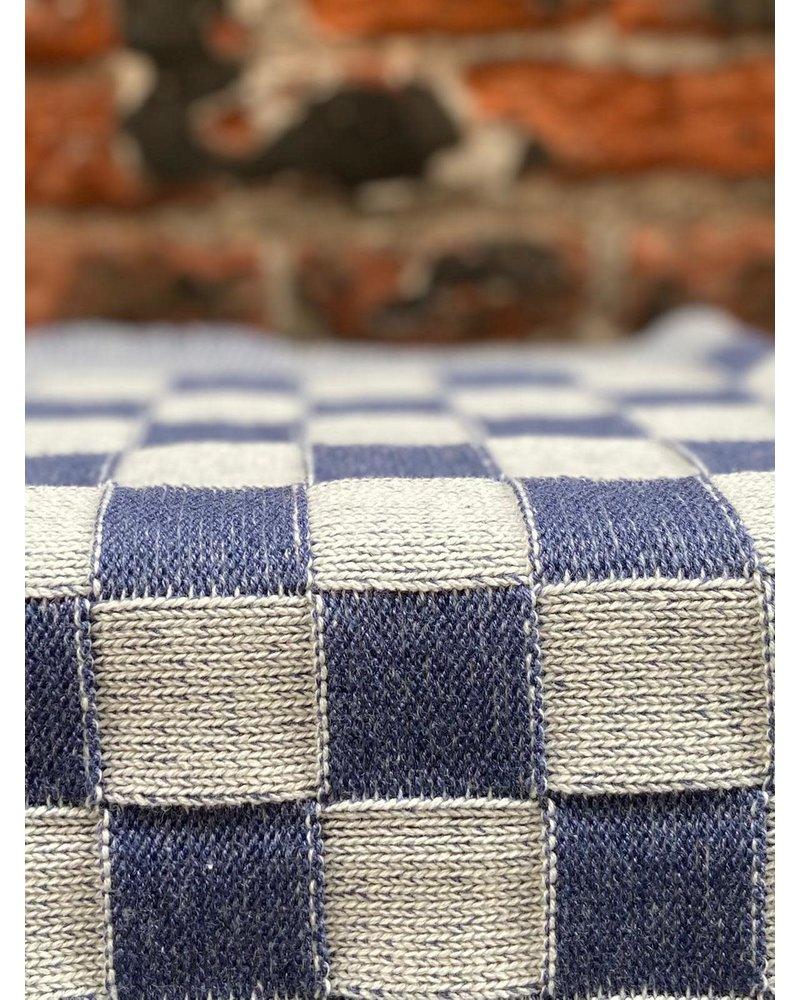 Knit Factory Knit Factory Keukendoek Block 'Ecru/Jeans'