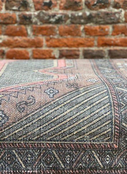 HK living Printed Cotton Rug Stonewashed