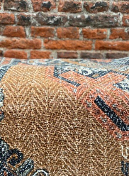 HK living Printed Cotton/Jute Rug Stonewashed