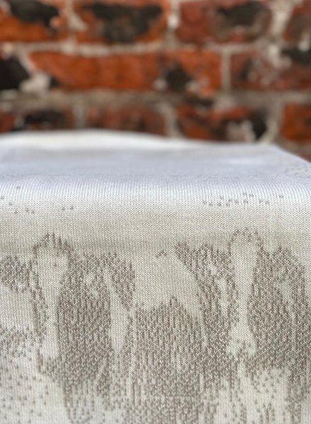 Knit Factory Keukendoek Koeien 'Ecru/Linnen'
