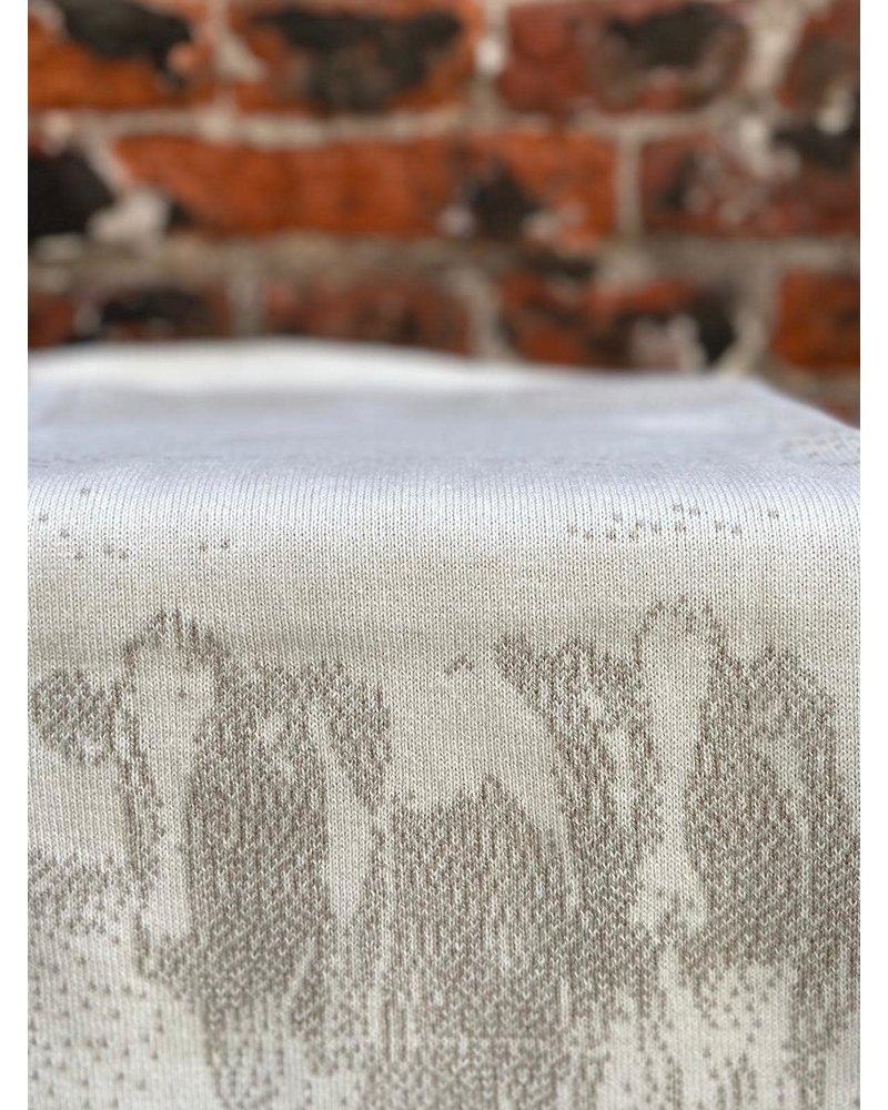 Knit Factory Knit Factory Keukendoek Koeien 'Ecru/Linnen'