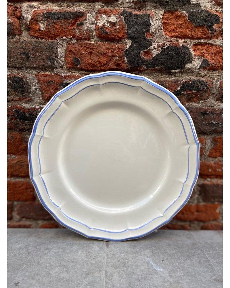 Gien Gien Dessert Plate 'Filet Bleu'