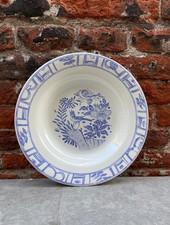 Gien Soup Plate 'Oiseau Bleu'