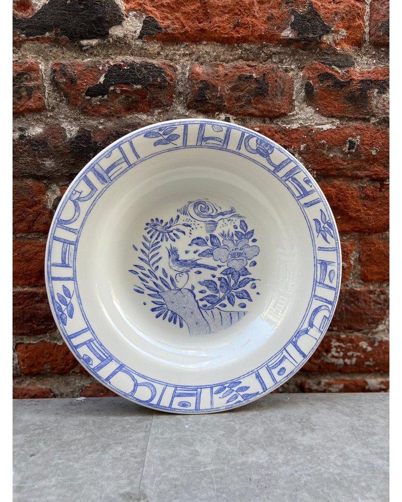 Gien Gien Soup Plate 'Oiseau Bleu'