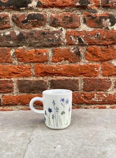 Kahla Wildblume Espressomok 'Blauw/Rood'