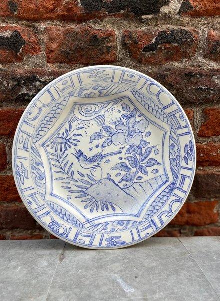 Gien Dessert Plate 'Oiseau Bleu'