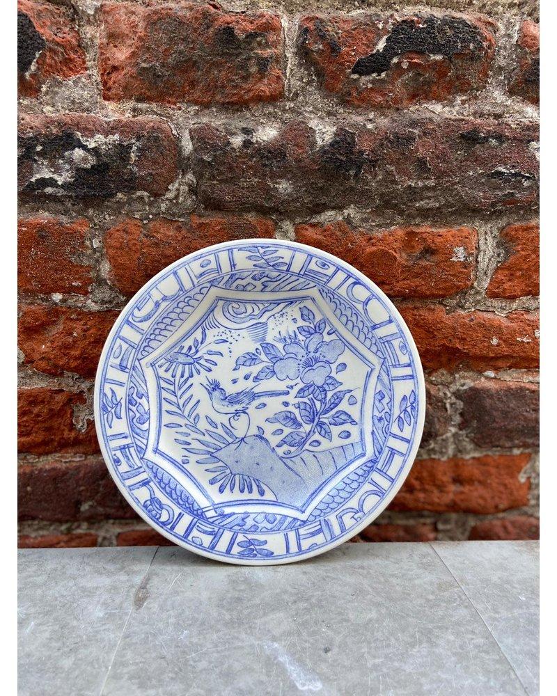 Gien Gien Canape Plate 'Oiseau Bleu'
