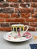 Gien Gien Coffee Cup & Saucer 'Routes des Indes'