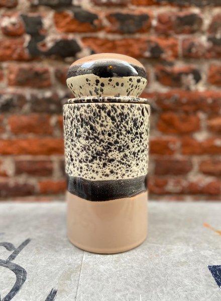HK living Ceramic 70's Storage Jar 'Tropical'