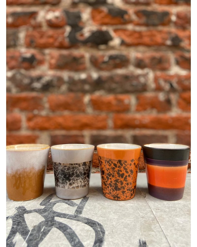 HK living HK living Ceramic 70's Ristretto Mug  'Birch'