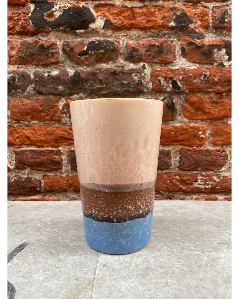 HK living HK living Ceramic 70's Tea Mug 'Sky'