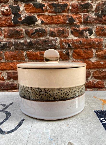 HK living Ceramic 70's Cookie Jar 'Lake'