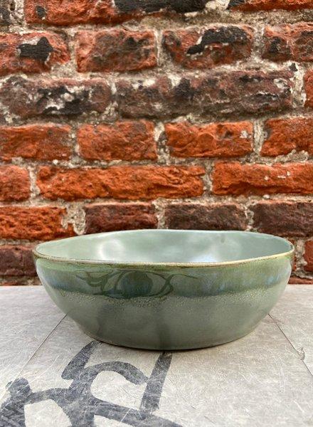 HK living Ceramic 70's Pasta Bowl 'Moss'