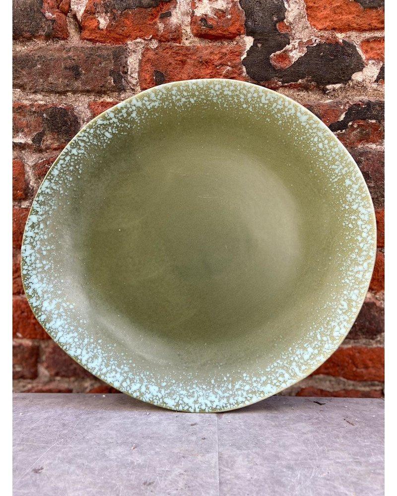 HK living HK living Ceramic 70's Dinner Plate 'Green'